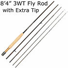 Fly Rod 3/5/8WT 8'/9' Fly Fishing Rod Medium-fast Action for freshwater