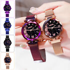 Waterproof Starry Sky Watch Magnetic Strap Buckle Stainless Steel Wristwatch US image