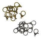 10Pcs 33mm Large Curved Lobster Claw Clasps Jewelry Findings Keychian Rings