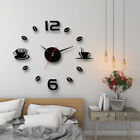 Modern art diy wall clock 3d self adhesive sticker design home office decor BR
