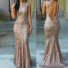 HOT Sexy Sequined Mermaid Wedding Dress Womens Bodycon Gown Prom Club Party