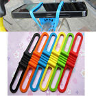 Bicycle Silicone Elastic Torch flashLight Phone Bind Strap Mount Holder BH