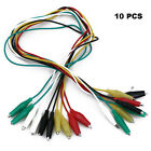 10 Pcs Crocodile Alligator Clips Cable Electrical DIY Jumper Leads Testing Wires