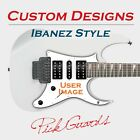 Ibanez Custom Graphic Pickguard RG Jem7 Jem Jr UV777 Custom Designs User Image  for sale  Shipping to Canada