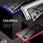 For Google Pixel 3/3 XL Shockproof Clear Metal Case Tempered Glass Back Cover