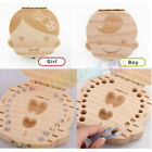Внешний вид - Wooden Kids Baby Tooth Box Organizer Milk Teeth Wood Storage Box for Boy or Girl