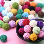 Beads 16mm Wooden Yarn ball Baby Teether Crochet Soft Tooth Nursing Safe