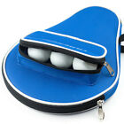 Oxford Table Tennis Racket Case with Outer Zipper Bag for Table Tennis Balls