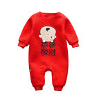 Baby Boys Girls Jumpsuit Chinese Lunar New Year Tang Long Sleeve Cotton Romper