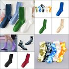 1 Pairs Womens Crew Socks Comfortable Cotton Knit Solid Color Soft High-Ankle