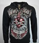 SILVER STAR Sweater Hoodie Mens S Sweatshirt Long Sleeve Jacket Zip UFC MMA NEW