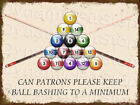 Pool Ball Rustic Tin Sign or Decal, Accessories, Snooker, Table, Room, Man Cave $17.4 USD on eBay