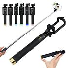 Foldable Wired Selfie Stick Telescopic Monopod For iPhone XR XS X 8 Plus 8 7 6S