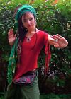 PIXIE TOP Fairy Top Tie up top slashed top Yoga Top Hippie clothes FREE Post UK