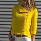 Women Fashion Long Sleeve Office Lady Chiffon Blouse Shirt T-Shirt Ladies Top