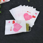 Gift Plastic Bags Red Heart Printing Bakery Bread Bags Cake Wrappers Bags AT
