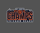 Chicago Bears 2018 NFC North Division Champions Vinyl Decal