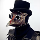 Vintage Steampunk Plague Doctor Leather Mask Studded Goggle Cosplay Costume Prop