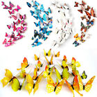 12pcs/lot 3d Butterfly Art Decals Pvc Wall Stickers Home Bedroom Wall Decoration