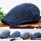 Mens Womens Ivy Jean Cap Golf Driving Flat Cabbie Newsboy Gatsby Beret Denim Hat