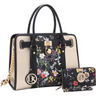 Dasein Large Two Tone Chain Strap Satchel with Matching