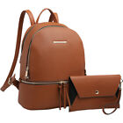 Dasein Leather Backpack with Matching wristlet 5 Colors Backpack Handbag NEW