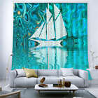 Camouflage Blue Sailing 3D Curtain Blockout Photo Printing Curtains Drape Fabric