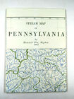 Pennsylvaina Vintage Stream Map 1965 Higbee's 33 x 56 Inches