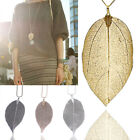 Unique Ladies Fashion Jewelry Leaves Leaf Sweater Pendant Long Chain Necklace