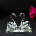 Large Crystal Animal Twin Double Swans model swarovski Element Gift Present 7543