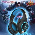 New for mobile phone PS4 PSP PC Gaming Headphones 3.5mm+usb Wired Headset with M