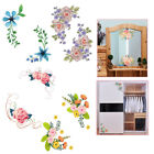Exquisite Flowers Toilet Fridge Wardrobe Wall Stickers Decals Mural Home Decor