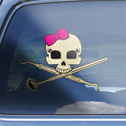 Girls Dental Hygienist Skull Decal - womens dental Hygiene crossbones sticker