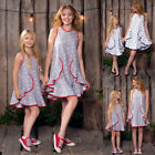 Family Dress Mother Daughter Matching Girls Party Pageant Outfit Clothes Dresses