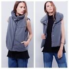 New $168 Free People grey PILLOW PUFFER VEST jacket S