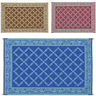 Camping Reversible Mat 6x9' 9x12' Area Rugs Trailer Outdoor Patio RV Accessories