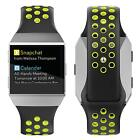 Fitbit Ionic Soft Silicone Sport Band Strap Replacement Accessories Black Yellow