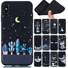 For iPhone XS Max XR X 8 7 6S Plus Soft Silicone Painted TPU Back Case Cover