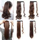 US Curly Wavy Binding/Tie Up Ponytail Clip In On Hair Extensions As Human