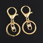 Gold Lobster Clasps Clip Hook Snap Swivel Keychain Key Ring Backpack Split Rings