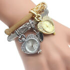 Fashion Bracelet Wrist Watch for Woman Silver&Gold Bangle Band Crystal Ladies image