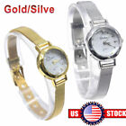 Women Ladies Girls Quartz Wrist Watches Small Dial Mesh Stainless Steel Bracelet image