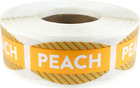 Peach Grocery Market Stickers, 0.75 x 1.375 Inches, 500 Labels on a Roll