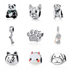 AUTHENTIC PANDORA Charm Bead 100% 925 Sterling Silver Animals Dog Lovely Cat