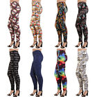 Plus Size Print Leggings Graphic Colorful Stretchy Pants Fashion Patterns