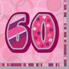 Pink Girl Milestone Special 60th Age 60 Birthday Party Supplies Decorations