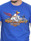 Harley-Davidson Looney Tunes Mens Foghorn Motorcycle Blue Short Sleeve T-Shirt $12.99 USD on eBay