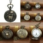 Vintage Chain Pocket Watch Necklace Watch For Grandpa Dad Gifts Retro Watches image