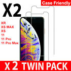 New Gorilla Tempered Glass Screen Protector For New iPhone XR XS Max XS X 2019 <br/> 2Pack Retail Packing-Full Glue-Case Friendly-11000+Sold