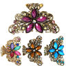Lovoski Metal Hair Claw Prom Lady Crystal Butterfly Flower Hair Clip Claw Clamps